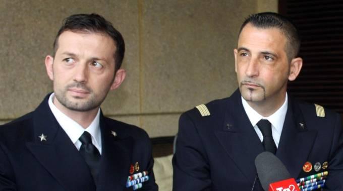 I due marò Massimiliano Latorre e Salvatore Girone (Ansa)