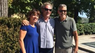 Cortona acchiappa-vip: George Clooney a pranzo in città con la moglie
