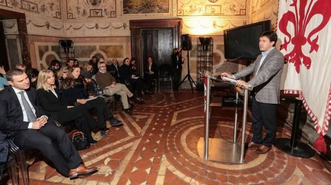 La presentazione in Comune (foto Giuseppe Cabras/New Pressphoto)
