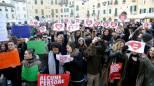 Unioni civili, in centinaia alla manifestazione