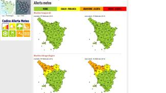 Piogge, venti e mareggiate: nuova allerta meteo in Toscana