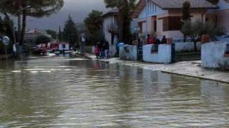 Bomba d'acqua nel Folignate, danni e disagi sul territorio