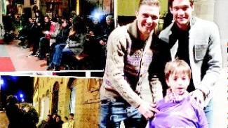 Grande festa con i giocatori della Fiorentina